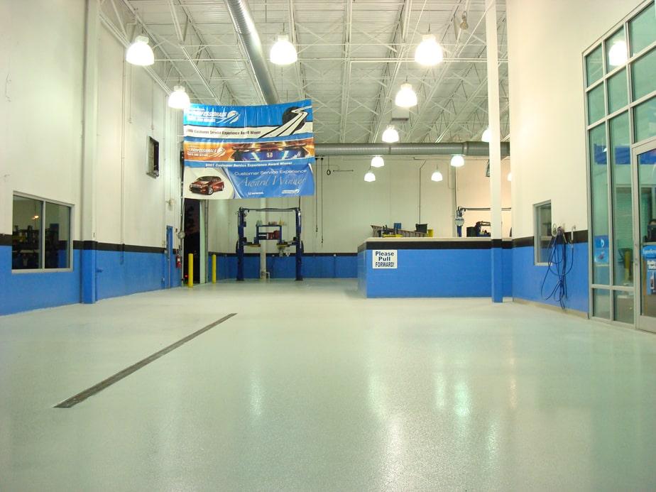 Osha compliant polymer non slip industrial concrete floor for Flooring solutions
