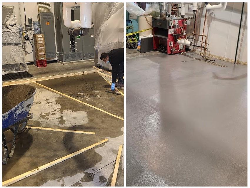 brewery flooring install